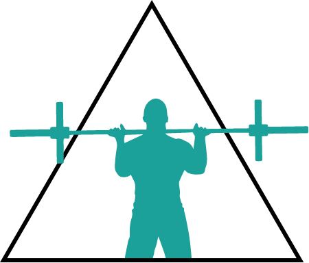 Illustration d'un homme faisant de l'haltérophilie.